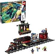 """LEGO 隐形侧幽灵火车 Express 70424 建筑套装,8 岁以上男孩和女孩的火车玩具,互动增强现实玩具套装,新款 2019(698 件) """"Multi"""""""