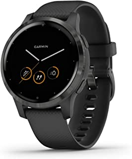 Garmin vivoactive 4 GPS智能手表,具有音乐,人体能量监测,动画模拟,脉搏氧传感器等功能,黑色