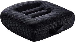 汽车增高座椅坐垫姿势垫便携式透气网眼,有效提高视野 12 厘米 / 4.7 英寸,非常适合办公室、家庭、角度提升座椅坐垫(黑色)