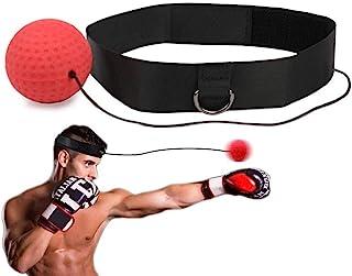 Fubosi 拳击反射球 带头带拳击球 比网球更柔软 适合反应 敏捷 冲压 速度 战斗技巧 手眼协调训练