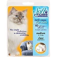 适用于猫咪的软爪*帽,透明尺寸 中号 2.26-4.54 kg,CLS (清洁锁系统)