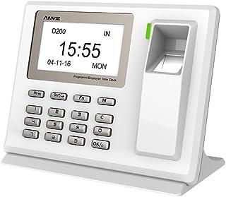 Anviz D200 检测时间捕获 手指扫描仪和代码笔,迷你 USB 模型,白色