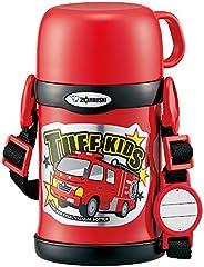 ZOJIRUSHI 象印 儿童不锈钢水杯 保冷 运动型 两用式 吸管&杯盖 红色 450ml SC-ZT4