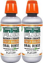TheraBreath Plus 大强度口服漱口液,16盎司,约473.12 毫升(2瓶)