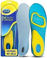 Scholl GelActiv 每日鞋垫(适用于40-46.5的休闲鞋,通过双层填充,自粘凝胶鞋底提高舒适度)1 对