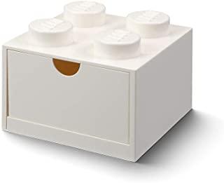 Room 哥本哈根40211730 乐高桌抽屉 8个旋钮可堆叠收纳盒 3 and up 白色 Small desk 白色