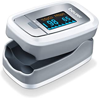 Beurer 博雅 PO 30 脉搏血氧计(灰色/白色,检测心率和血氧饱和度)