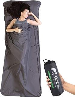 户外必备睡袋衬垫 - 旅行和露营床单 - 轻质成人睡袋 - 旅行、酒店、露营和背包的理想选择