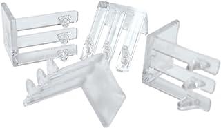 假前夹透明塑料适用于 1.91 厘米厚面框,带保险杠 - 4 件套