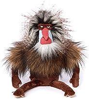 sigikid BEASTS 39135 King Bombastic Beasts Town 猴子软玩具,适合成人和儿童,棕色
