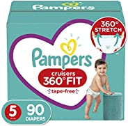 Pampers 帮宝适 Cruisers 360° Fit 一次性婴儿尿布 Size 5 (90 Count)
