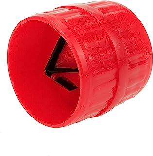 Semetall 管道去毛刺工具 3/16 英寸至 1-1/2 英寸 PVC 管铰刀,用于铜 PVC 管和软钢管(红色)