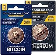 比特币和以太坊冷存储钱包赠品包 | 1 盎司 999 细铜 | *地在线存储加密货币