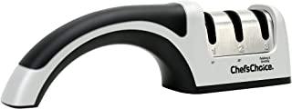 Chef'sChoice 4643 ProntoPro金刚石手动磨刀器 极快速锐的欧美及亚洲风格磨刀精确的斜角控制金刚石磨料 美国制造,三级,银色