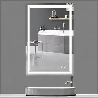 Keonjinn 36 x 24 英寸(约 91.4 x 60.9 厘米)浴室 LED 镜子防雾可调光壁挂式化妆化妆化妆镜,带灯光(垂直/水平)