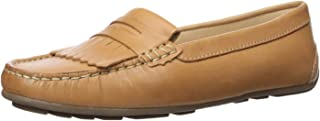 Driver Club USA 女士皮革巴西制造 Kilt Detail Driver Moc 乐福鞋