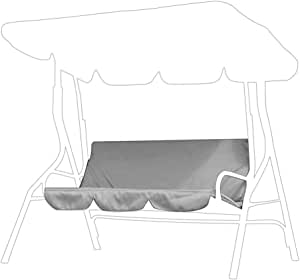 TOPINCN 秋千靠垫套,3 座高级 190T 涤纶塔夫绸秋千座椅套户外防水秋千椅保护罩适用于庭院花园 60 x 20 x 20 英寸(灰色)