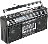 QFX J-220BT ReRun X 盒式播放器拾音器 带4频收音机、MP3转换器和蓝牙