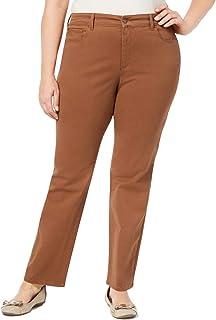 Congo Club 女式加大收腹弹力裤棕色 18W