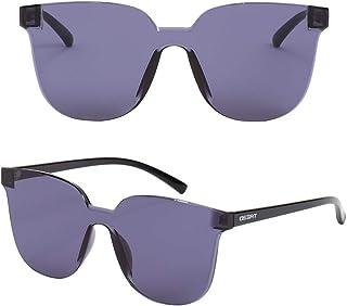 Ossat 时尚新颖女式方形太阳镜 - 平面镜片防紫外线