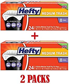 Flap Tie 中号垃圾袋 - 8 加仑,24 个