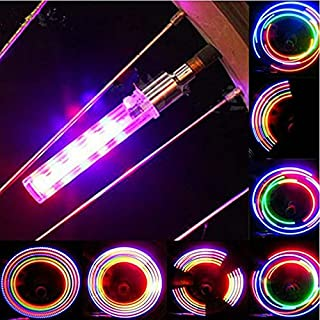 LED 轮阀自行车灯 | 适用于 Presta 和 Schrader 阀门 | 附赠额外电池组 | 适用于 MTB 自行车、公路自行车、摩托车、汽车