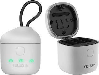 REYGEAK AllinBox 电池充电器,适用于 Hero 9 高速 USB 3.0 SD 读卡器,防水存储携带盒,适用于 GoPro Hero 9 黑色,IP54 级防水(充电器)