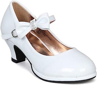 Little Angel Tasha-685E 蝴蝶结玛丽珍鞋(幼儿/小女孩/大女孩) AD05 - 白色
