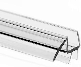 eatelle 无框淋浴门底部密封条带滴水导轨 - 3/16 英寸(5 毫米)厚,36 英寸(约 91.4 厘米)长 - 玻璃门密封条超清晰耐用聚碳酸酯防止淋浴漏
