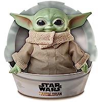 Disney 迪士尼 星球大战儿童毛绒玩具,曼达洛人 11英寸/约27.94厘米 类似Yoda的小号柔软人偶
