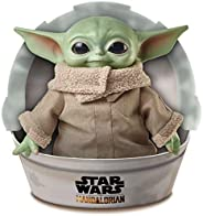 Disney 迪士尼 星球大戰兒童毛絨玩具,曼達洛人 11英寸/約27.94厘米 類似Yoda的小號柔軟人偶