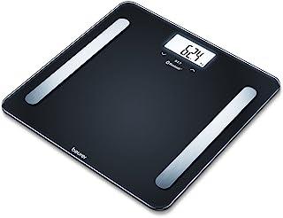 Beurer德国博依 BF 600 *性电子体重秤,可将智能手机和体重秤联网,数字体重称带体重分析,黑色 Pure Black