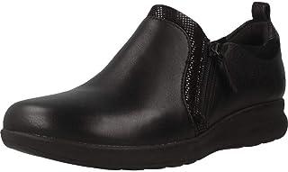 Clarks 女士 Un Adorn 拉链 乐福鞋