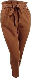 Bar III 女式高腰褶饰纸袋裤