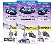 Pedialyte 电解质水冲剂,葡萄味,3盒装,每盒6包,共18包,每包0.6盎司(17g)部分库存效期至2019年6月1日