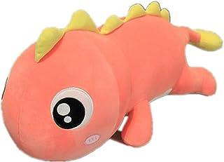AUCOOMA 恐龙毛绒枕头,恐龙填充动物毛绒玩具(粉色23.6英寸)