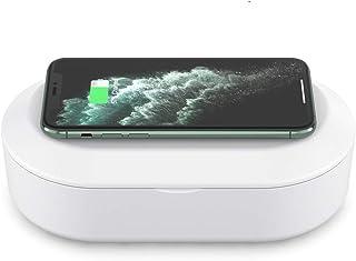 Witsy UV LED 盒便携式智能手机清洁器无线充电器带芳香*功能,适用于所有手机