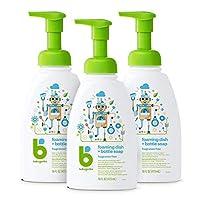 BabyGanics 泡沫洗碗皂液,泵瓶,無香料,16盎司/473毫升,3件,包裝可能有所不同