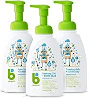 BabyGanics 泡沫洗碗皂液,泵瓶,无香料,16盎司/473毫升,3件,包装可能有所不同