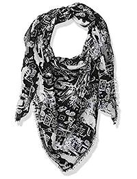 Karl Lagerfeld Paris 女士雙色印花羊絨圍巾