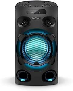 Sony 索尼 MHC-V02 紧凑型高功率派对扬声器(一个盒高保真音乐系统)黑色