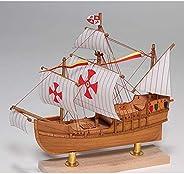 WoodyJOE 帆船 迷你帆船2 圣玛利亚 木制模型
