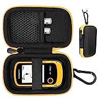 手持式 GPS 保护套兼容 Garmin eTrex 10、20、20、30、30x、35t 和 Touch 35、25 ,多合一紧凑型保护套适用于 eTrex 和充电器线,带钩环,方便携带