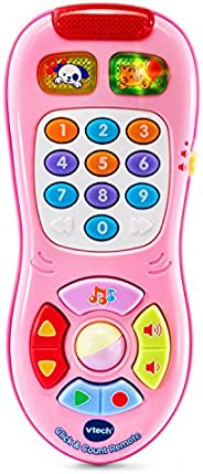 VTech 伟易达 Click and Count Remote,粉色