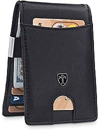 "TRAVANDO 钱夹钱包 ""RIO"" - 男士钱包纤薄前口袋 RFID 屏蔽卡包 极简主义迷你双折礼品盒"