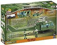 "COBI 2232 HUEY""休伊""多用途直升机 拼插玩具 飞机模型,绿色"