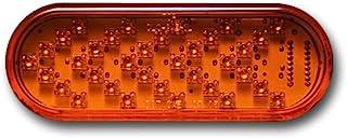 Pacific Dualies 60105 6 英寸琥珀色 LED 椭圆形连续转向信号,带琥珀色镜头插头和安装环