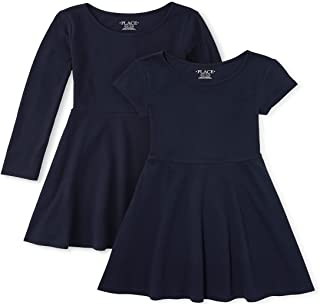 The Children's Place 女童百褶连衣裙,两件装
