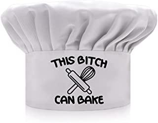 AGMdesign 趣味厨师帽 This Can Bake,男女适用的厨房烹饪帽 白色烘焙礼物 母亲节/父亲节/送给他、她、妈妈、爸爸、朋友的生日礼物