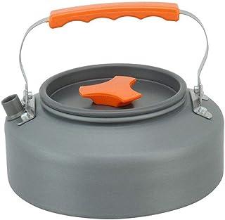 Mxue 1.6L 露营水壶茶,轻质铝咖啡壶,适用于徒步、背包、露营和野餐,包括便携包